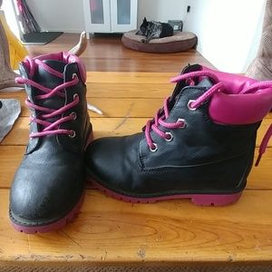 Other - Size 12 girls black pink hiking boots